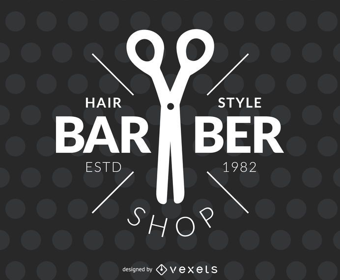Barber hair salon label