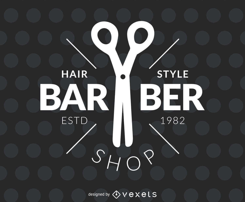 Barber hair salon label
