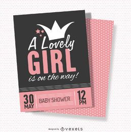 Lovely baby shower card