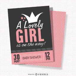 Tarjeta de baby shower adorable