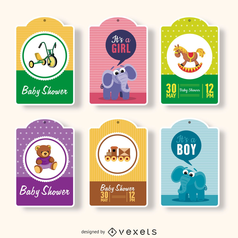 Etiquetas de regalo para baby shower