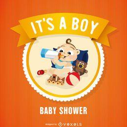 Tarjeta de la ducha del bebé