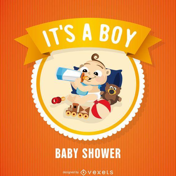 Tarjeta de insignia de baby shower