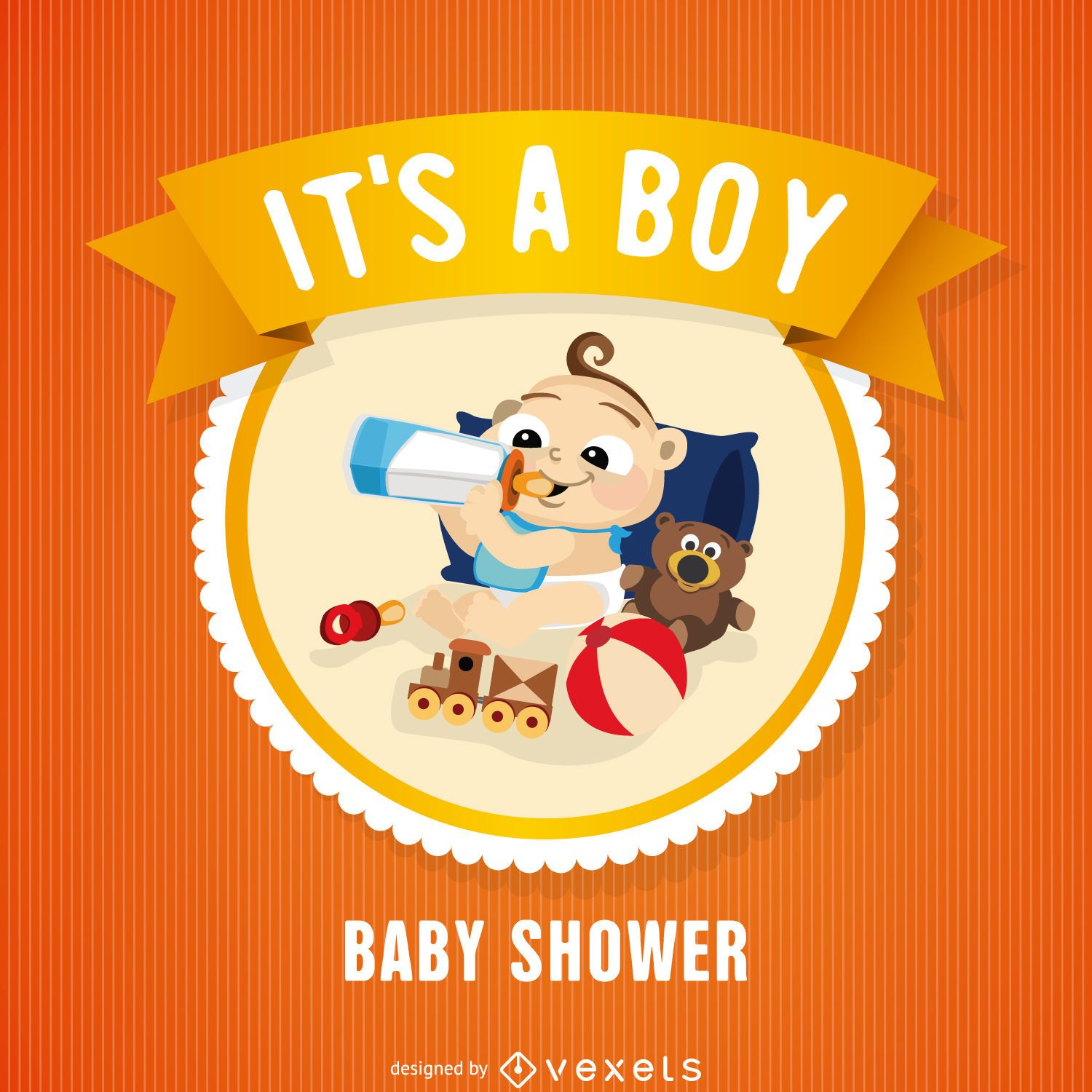 Baby shower badge card