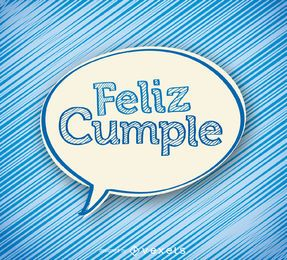 Feliz cumple sticker card
