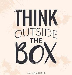 Pense fora da caixa de cartaz
