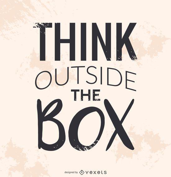 Piensa fuera de la caja del cartel.