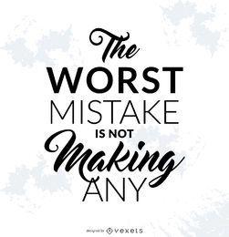 Cartaz de erro motivacional