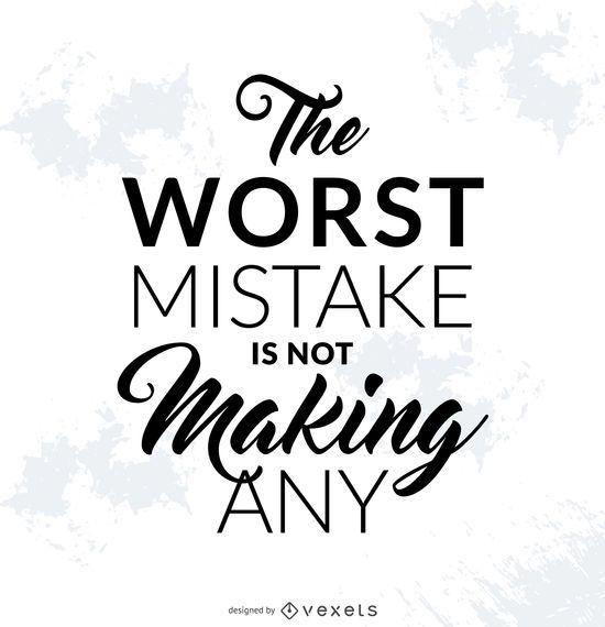 Póster de error motivacional