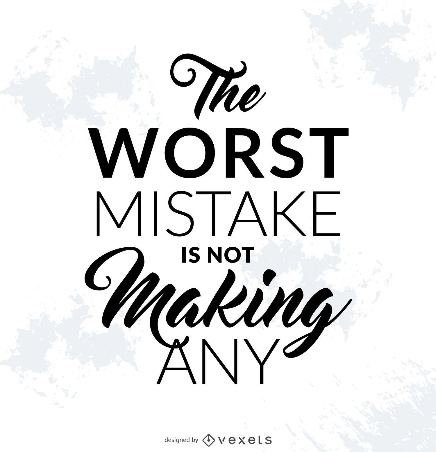 Pôster de erro motivacional