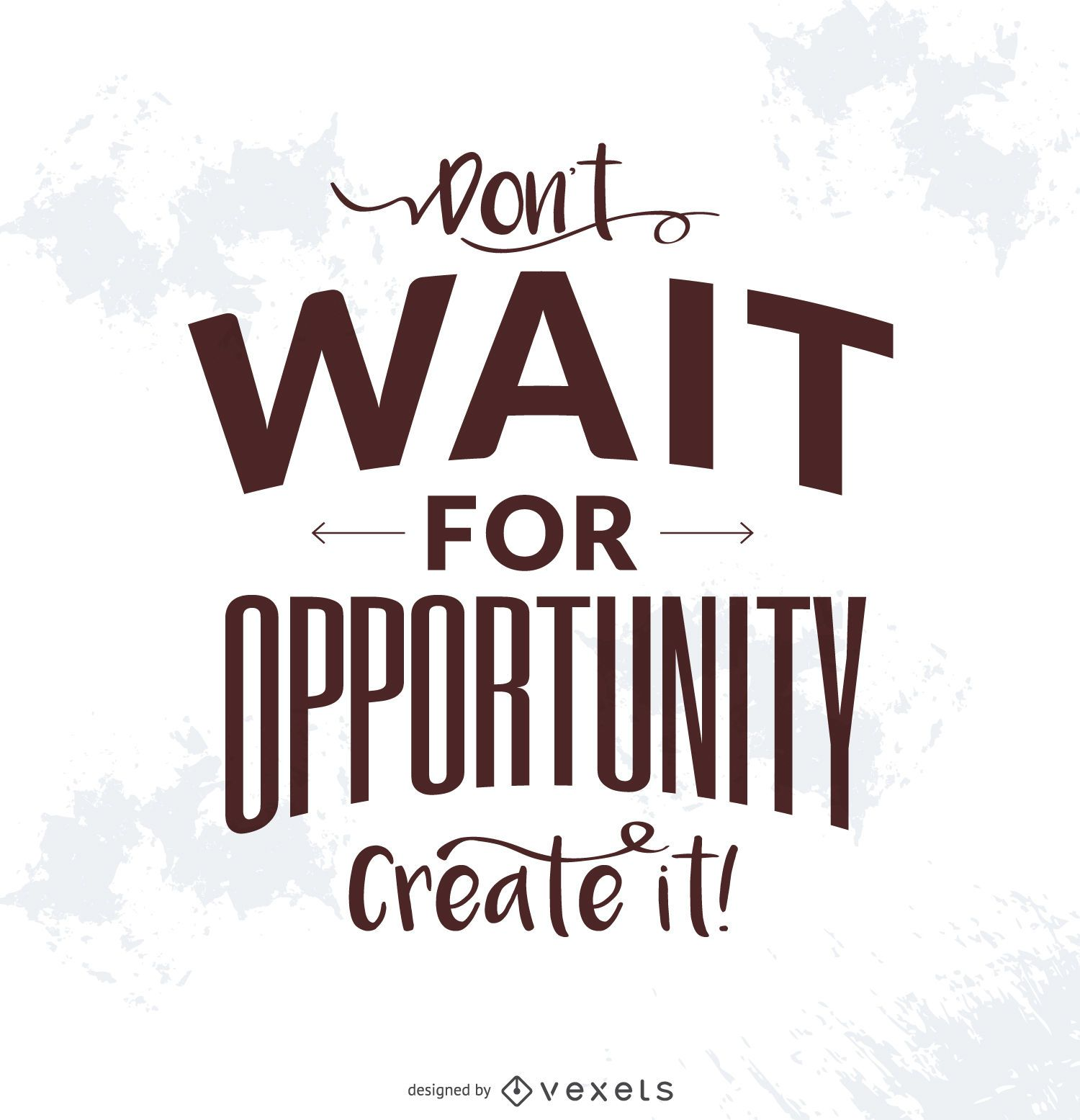 Crear cartel de tipografía de oportunidad.