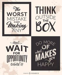 Motivational quote set