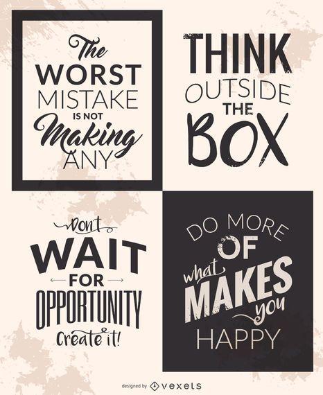 Conjunto de citas motivacionales