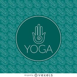 Patrón de contorno de signo de yoga