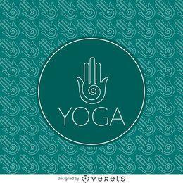 Yoga padrão do contorno sinal