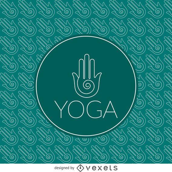 Yoga sign outline pattern