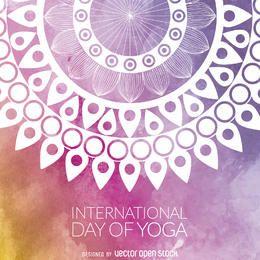 Design de mandala de dia de ioga