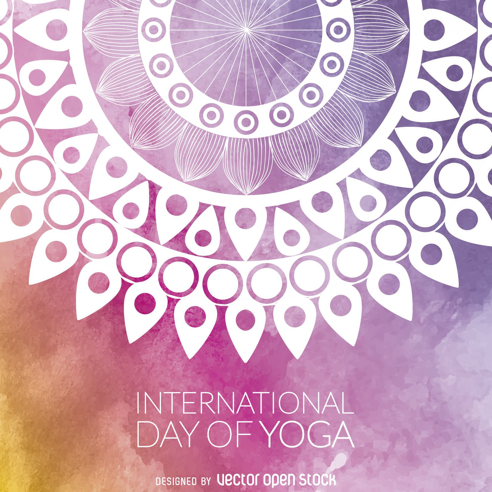 Yoga Day mandala design