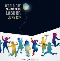 Cartel del Día mundial contra el trabajo infantil.