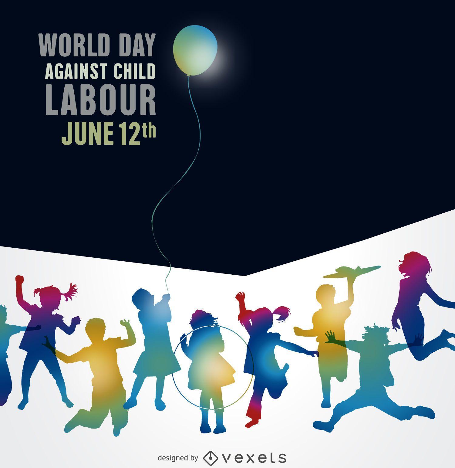 Cartaz do Dia Mundial contra o Trabalho Infantil
