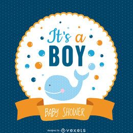Boy baby shower design