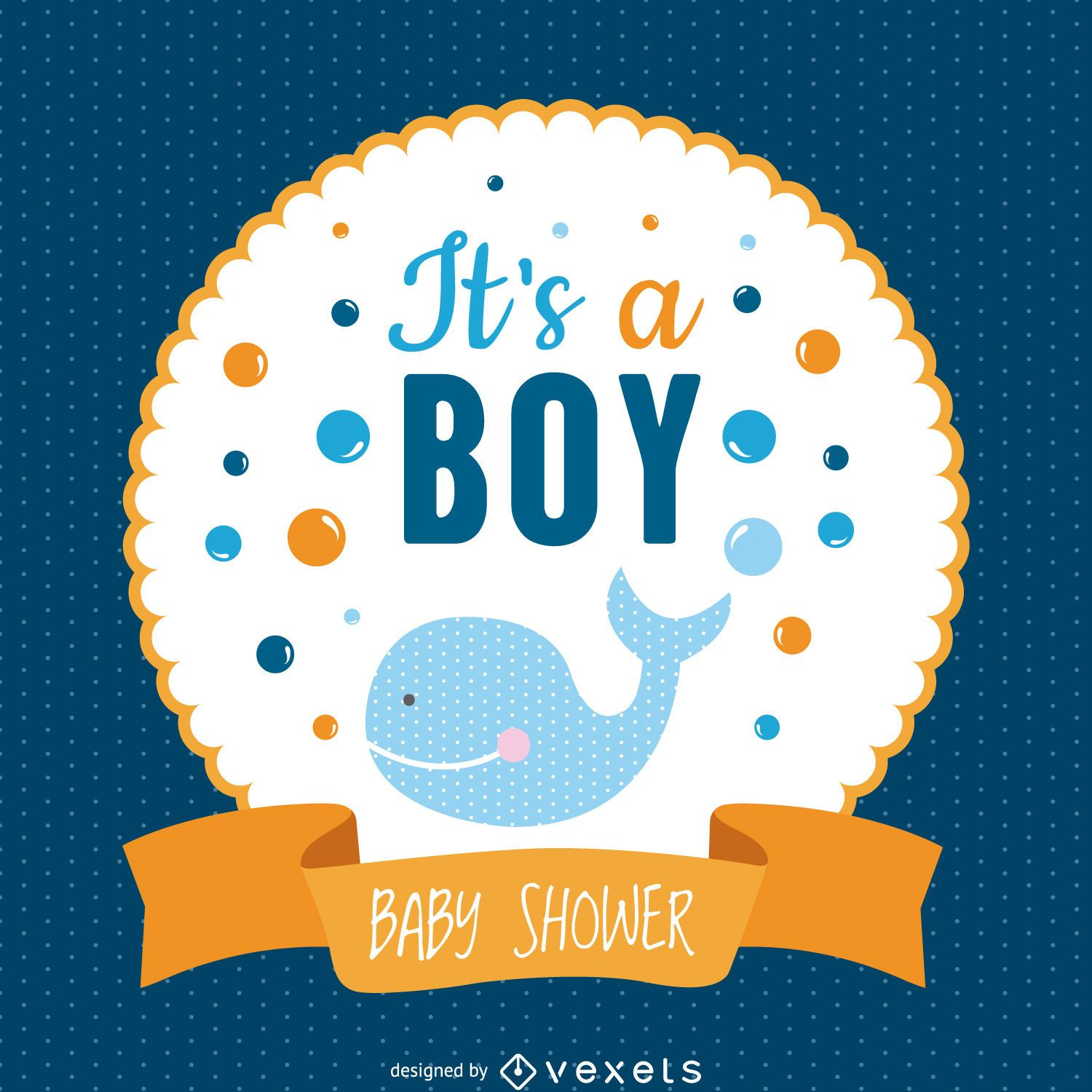 Boy baby shower design - Vector download