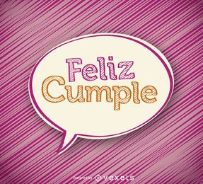 Handwritten feliz cumple design