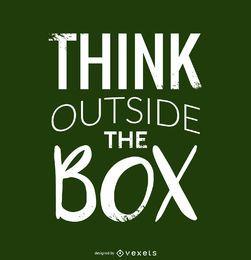 Piense fuera del diseño de la caja