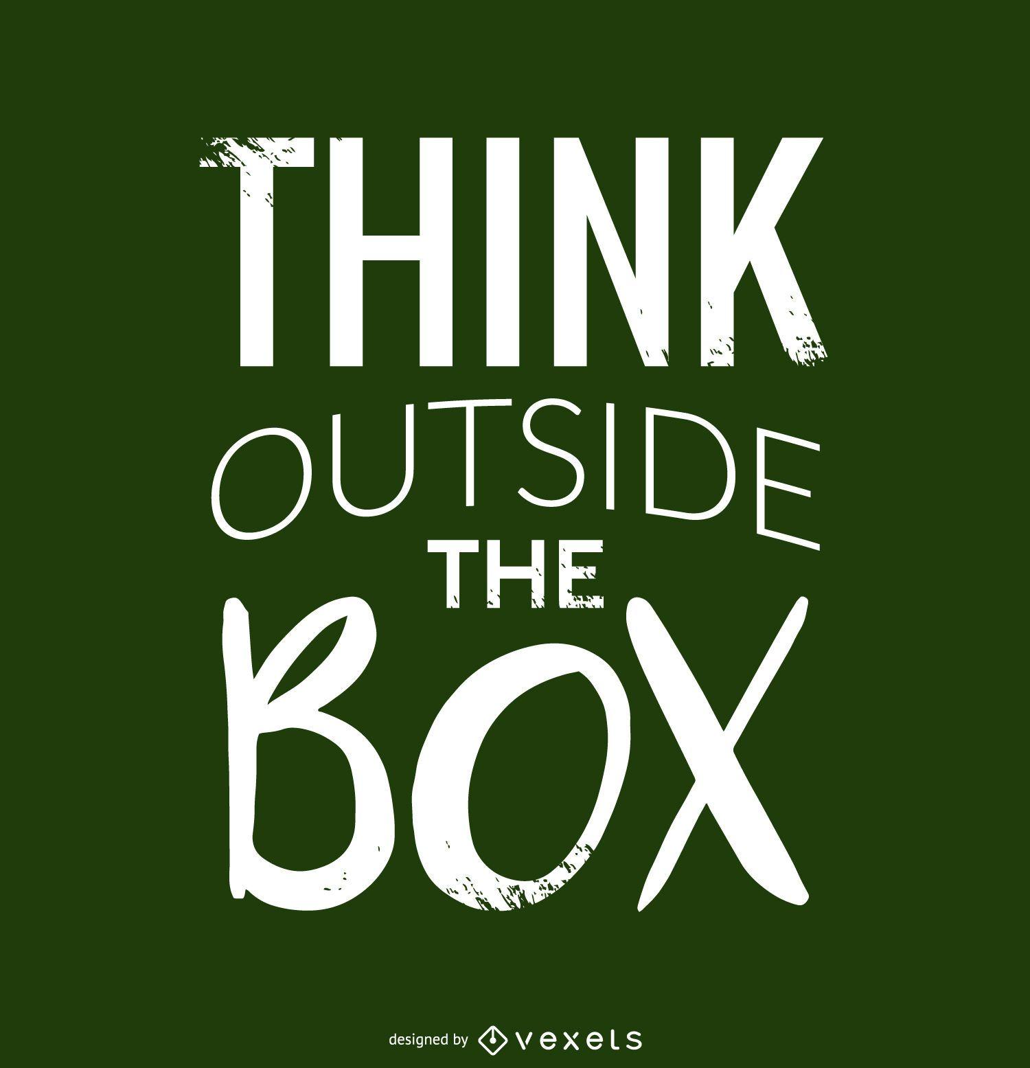 Pense fora do design da caixa