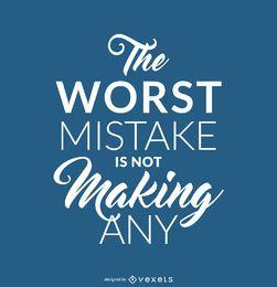 Cartaz de citação de erro hipster