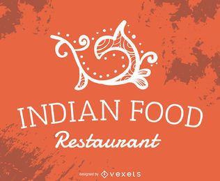 Indisches Essen Restaurant Label