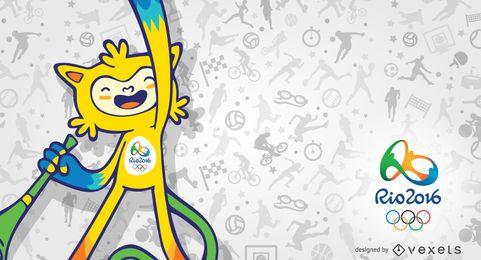 Vinicius Rio 2016 mascot banner
