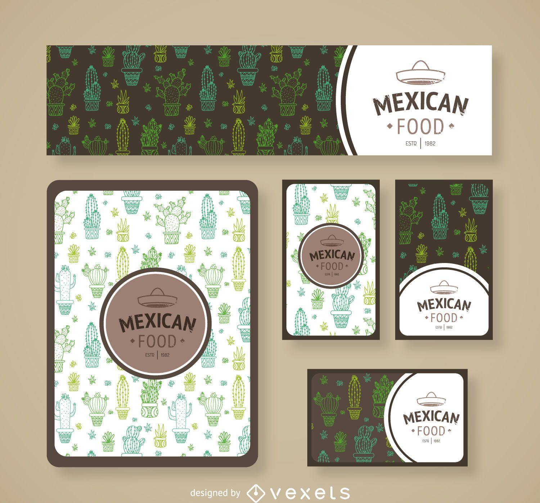 Marca de cactus de restaurante mexicano