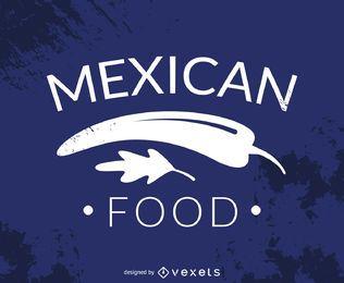 Hispter logotipo de la comida mexicana