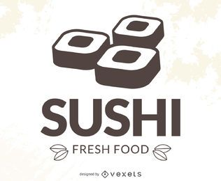 Modernes Sushi-Logo