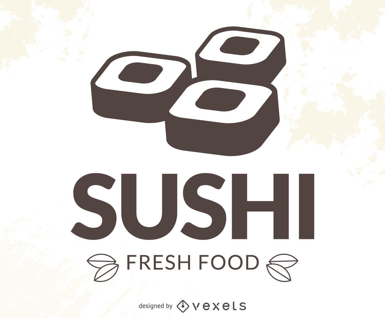 Logotipo de sushi moderno