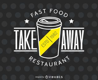 Take away restaurant logo