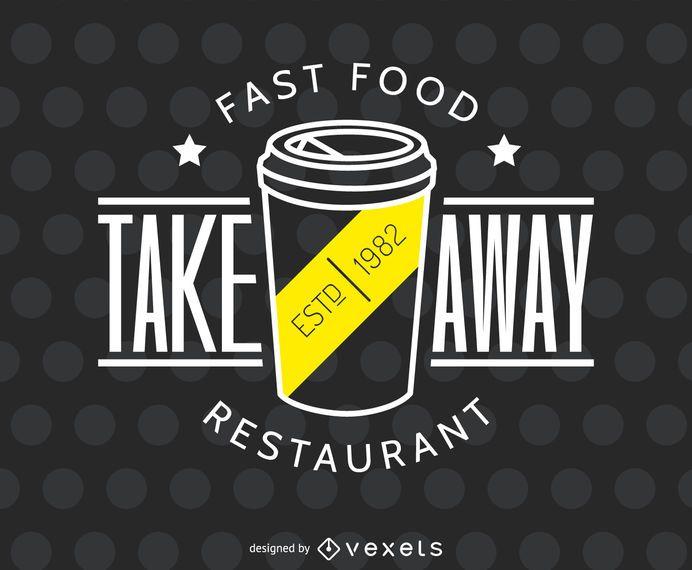 Take away restaurant logo