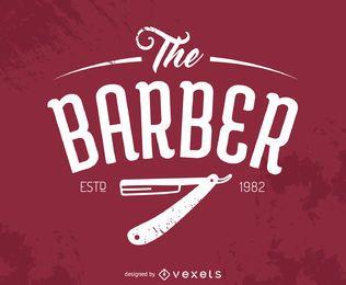Logotipo de peluquero hipster