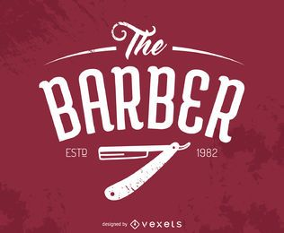 Logotipo do Barbeiro Hipster