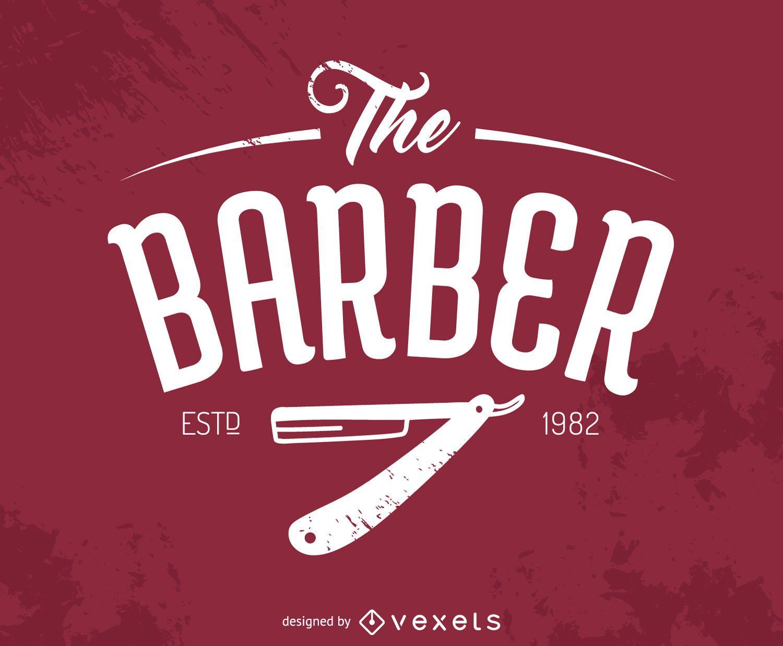 Hipster barber logo