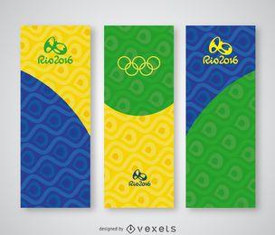 Conjunto de banner vertical Rio 2016