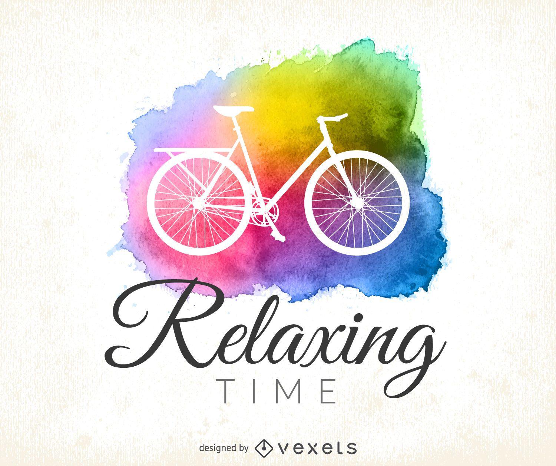 Watercolor cycling logo