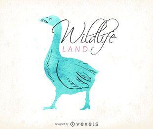 logotipo da aguarela dos animais selvagens