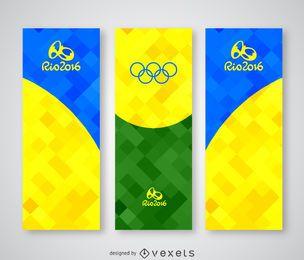 Banner poligonal colorido Rio 2016