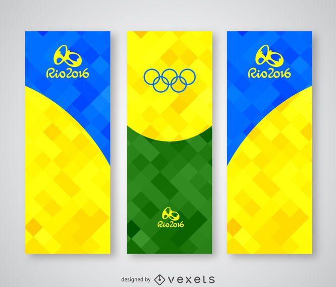 Colorful Rio 2016 polygonal banner