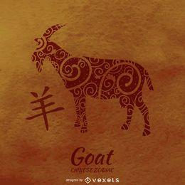 Chinese horoscope goat illustration