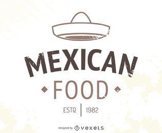 Logotipo de restaurante mexicano com chapéu
