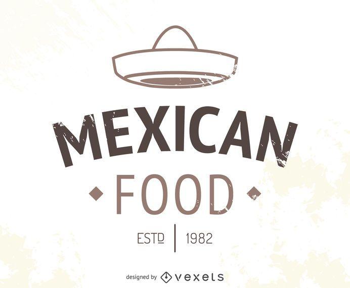 Logotipo do restaurante mexicano com chapéu