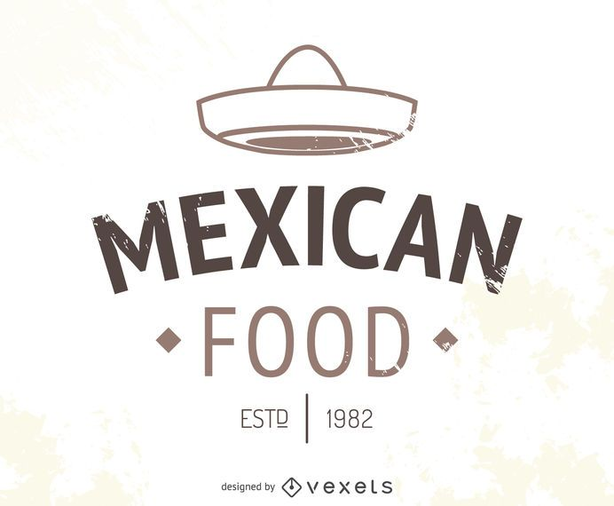 Mexican restaurant logo with hat